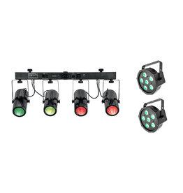 EUROLITE EUROLITE Set 2x LED SLS-6 TCL Spot + LED QDF-Bar RGBAW Light set