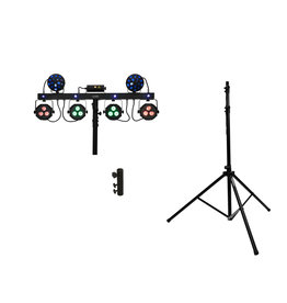 EUROLITE EUROLITE Set LED KLS Laser Bar Next FX Light Set + M-4 Speaker-System Stand