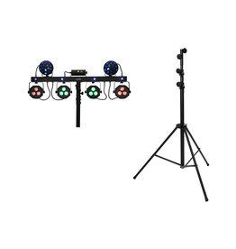 EUROLITE EUROLITE Set LED KLS Laser Bar Next FX Light Set + STV-60-WOT EU Steel stand black
