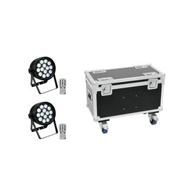 EUROLITE EUROLITE Set 2x AKKU IP PAR 14 HCL QuickDMX + Case with wheels