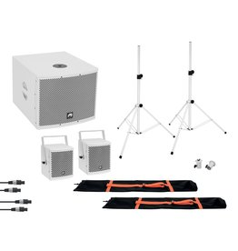 OMNITRONIC OMNITRONIC Set MOLLY 2.1 Active System Sub + 2x Top + Accessories, white