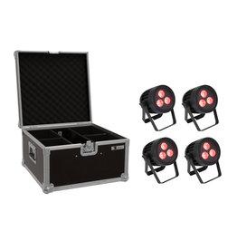 EUROLITE EUROLITE Set 4x LED IP PAR 3x9W SCL Spot + Case