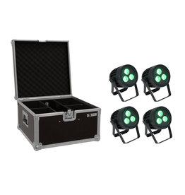 EUROLITE EUROLITE Set 4x LED IP PAR 3x8W QCL Spot + Case
