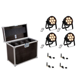 EUROLITE EUROLITE Set 4x LED 4C-7 Silent Slim Spot + USB QuickDMX + Case