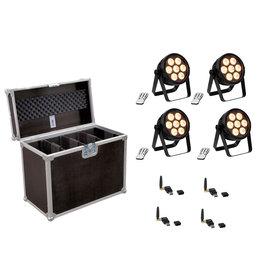 EUROLITE EUROLITE Set 4x LED 7C-7 Silent Slim Spot + USB QuickDMX + Case