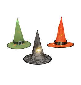 EUROPALMS EUROPALMS Halloween Witch Hat 3pc set, illuminated, 36cm