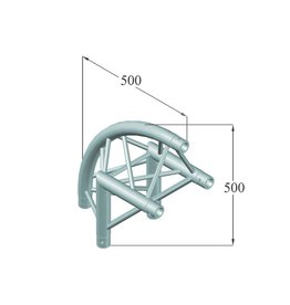 ALUTRUSS ALUTRUSS TRILOCK 6082AC-24R 2-way corner 90° /\