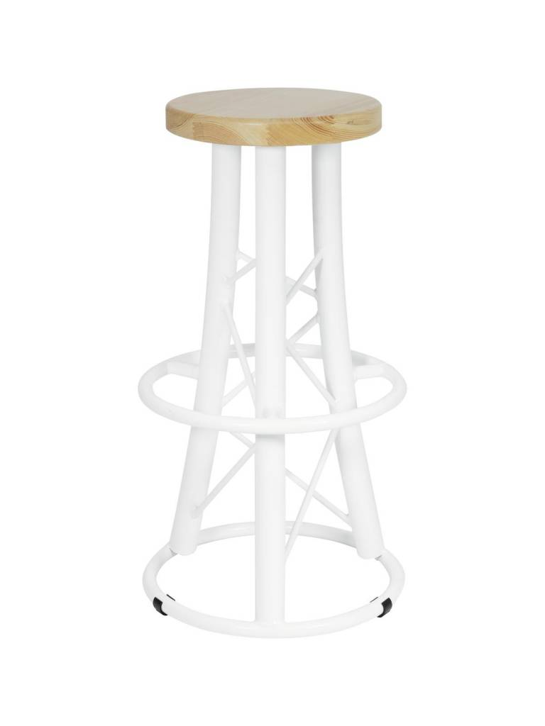 ALUTRUSS ALUTRUSS Bar stool, curved white