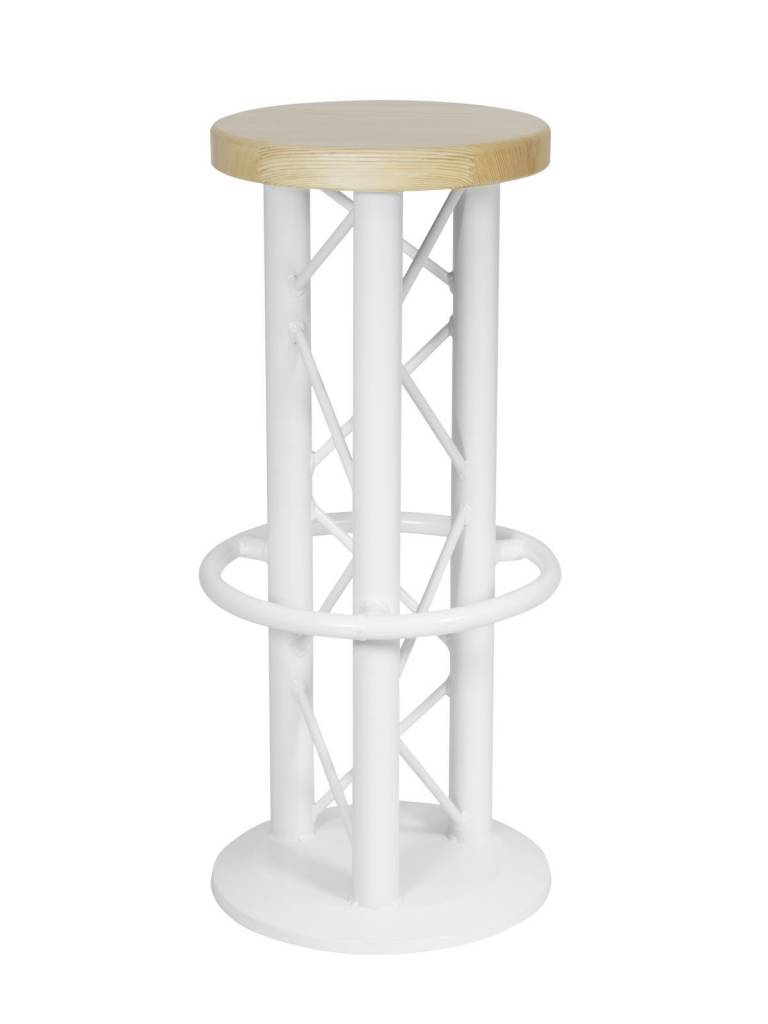 ALUTRUSS ALUTRUSS Bar stool with ground plate white