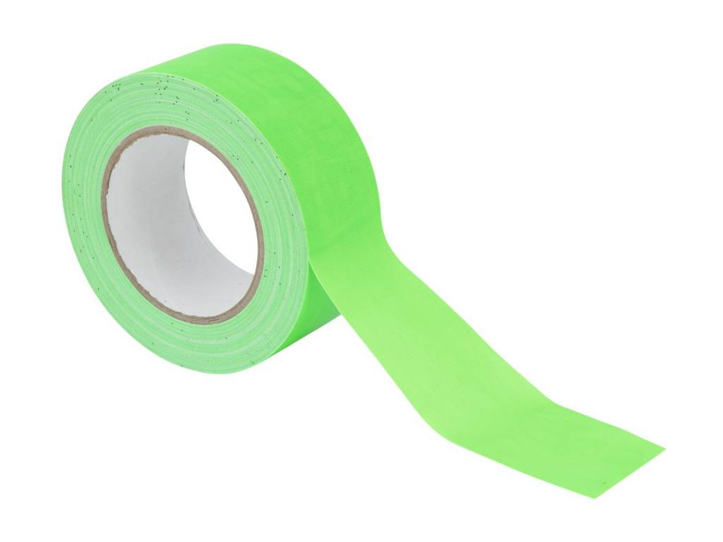 Pls ACCESSORY Gaffa Tape 50mm x 25m neon-green uv active
