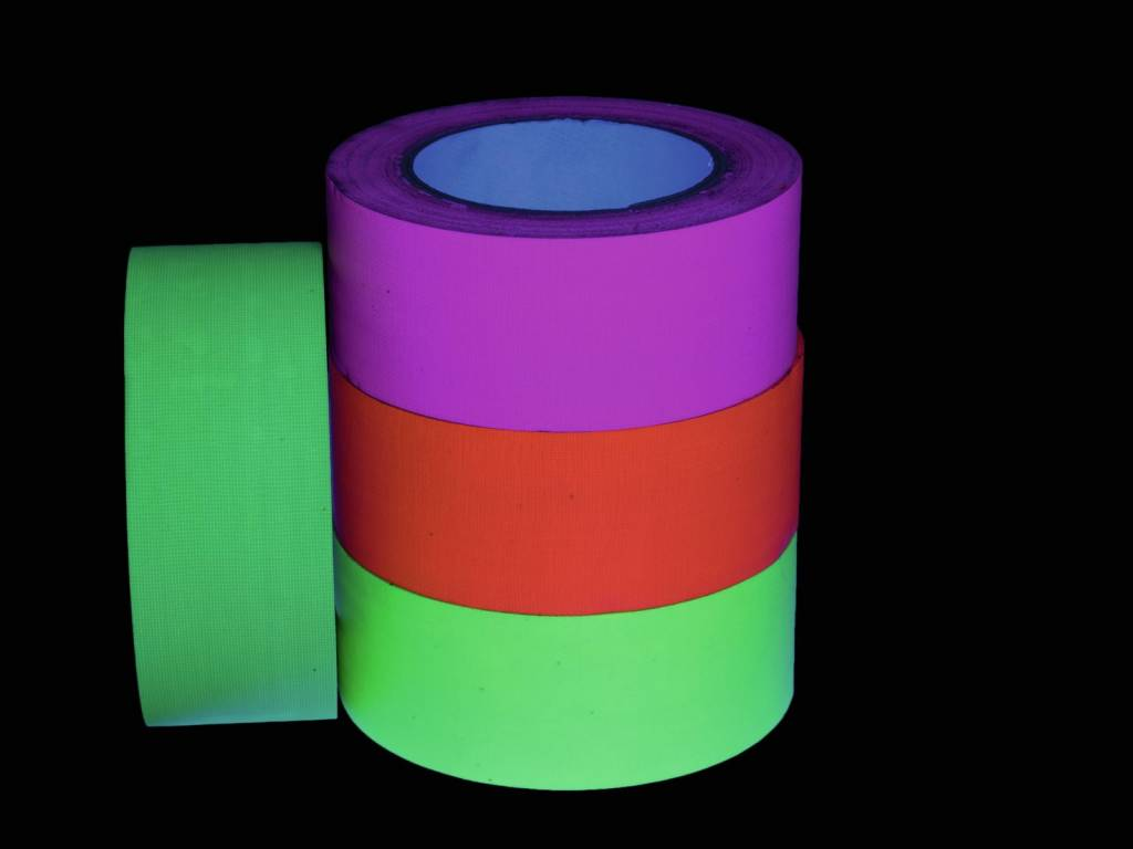 Pls ACCESSORY Gaffa Tape 50mm x 25m neon-pink uv active