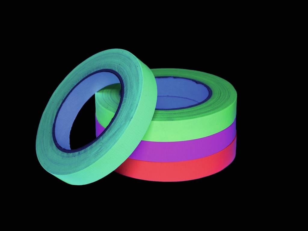 Pls ACCESSORY Gaffa Tape 19mm x 25m neon-yellow uv active