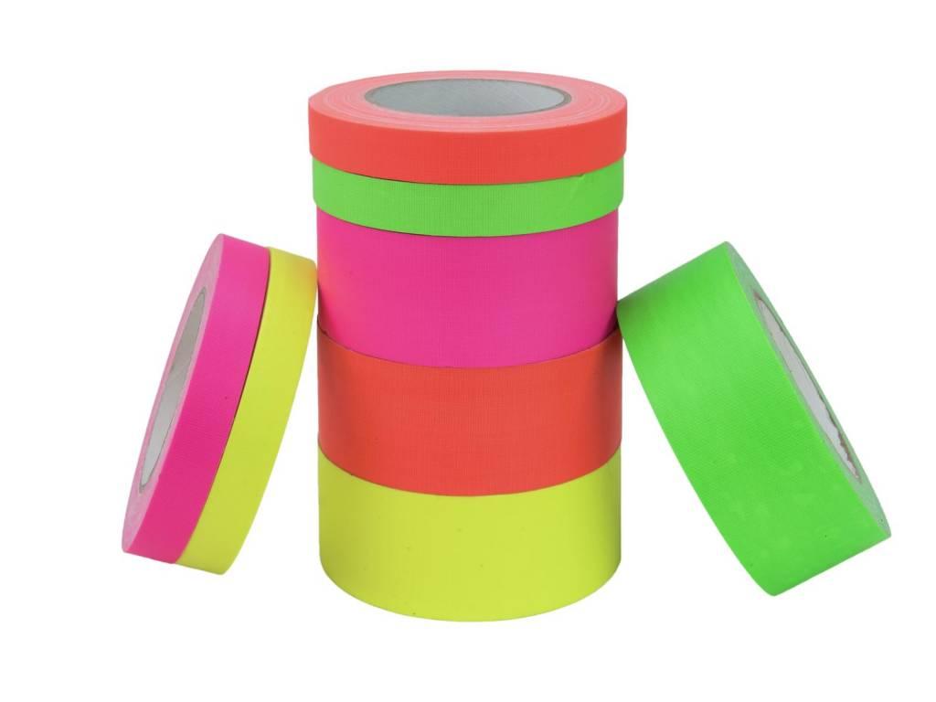 Pls ACCESSORY Gaffa Tape 19mm x 25m neon-green uv active