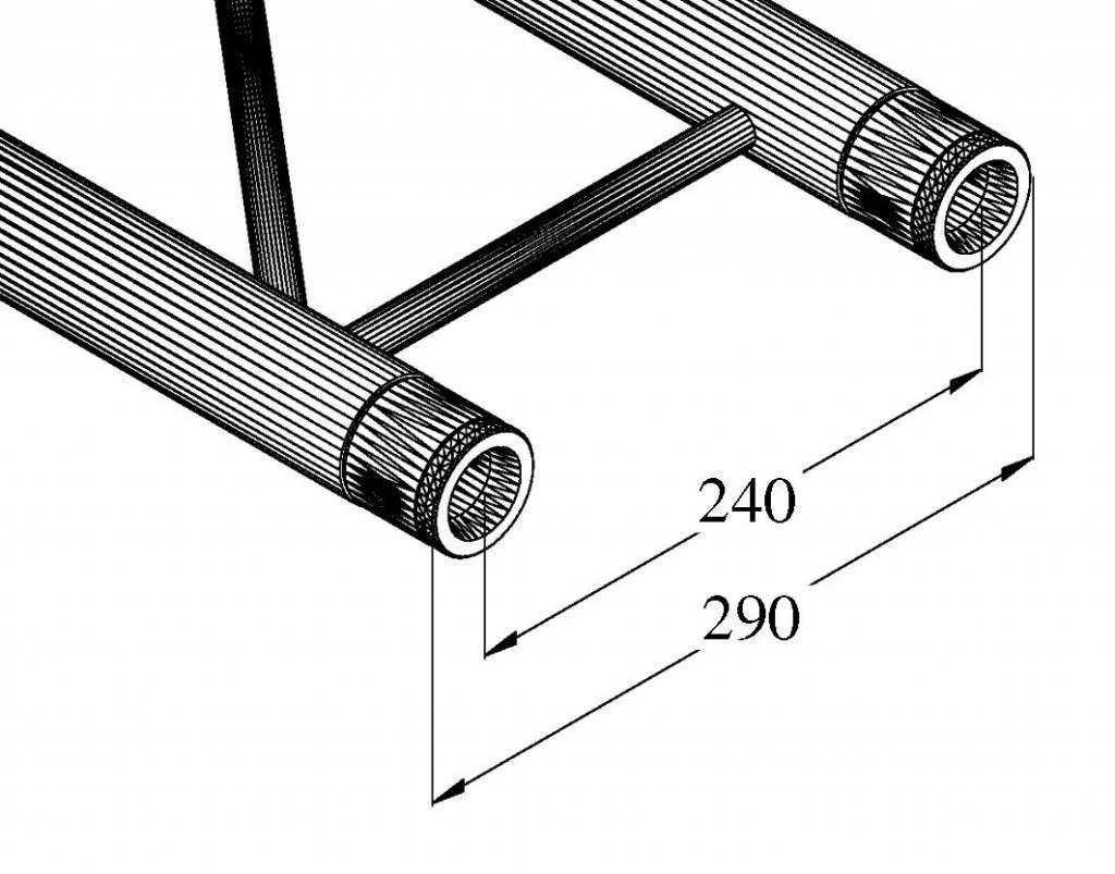 ALUTRUSS ALUTRUSS BILOCK E-GL22 3000 2-way cross beam