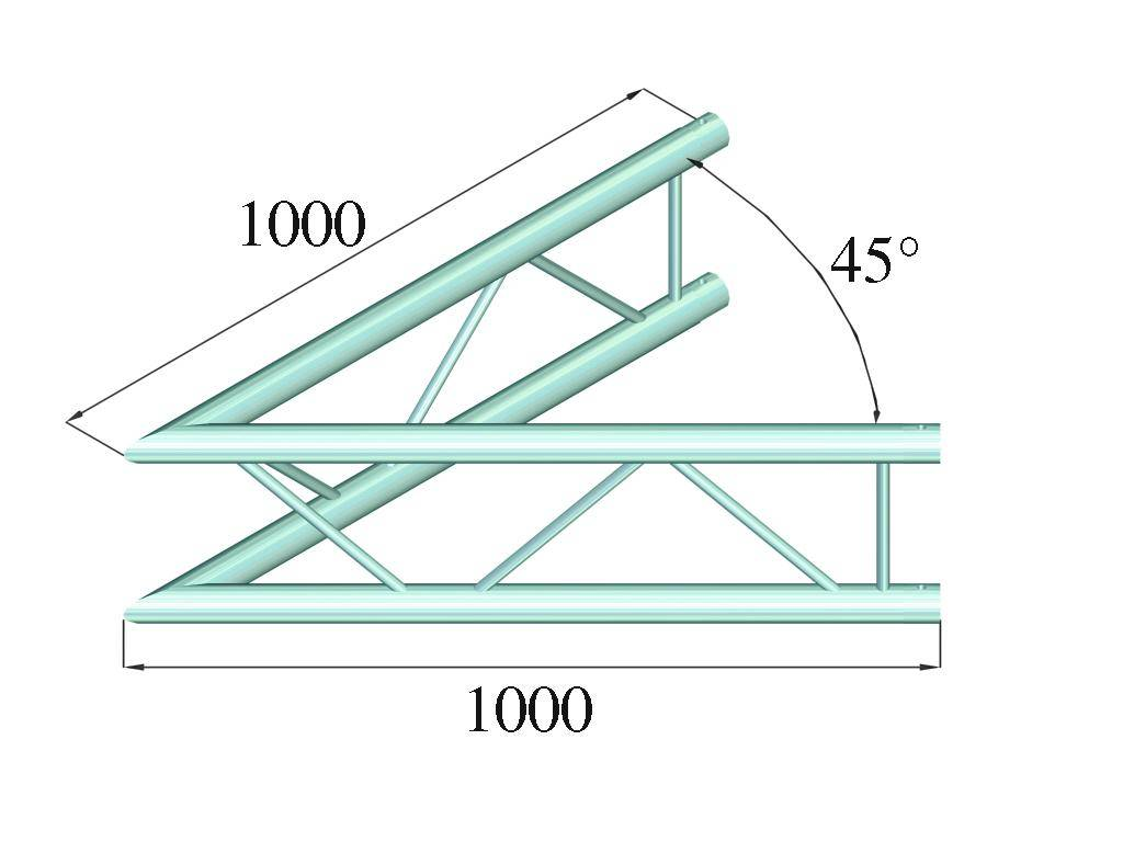ALUTRUSS ALUTRUSS BILOCK E-GL22 C19-V 2-way corner 45°