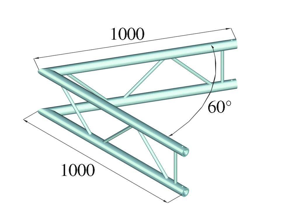 ALUTRUSS ALUTRUSS BILOCK E-GL22 C20-V 2-way corner 60°