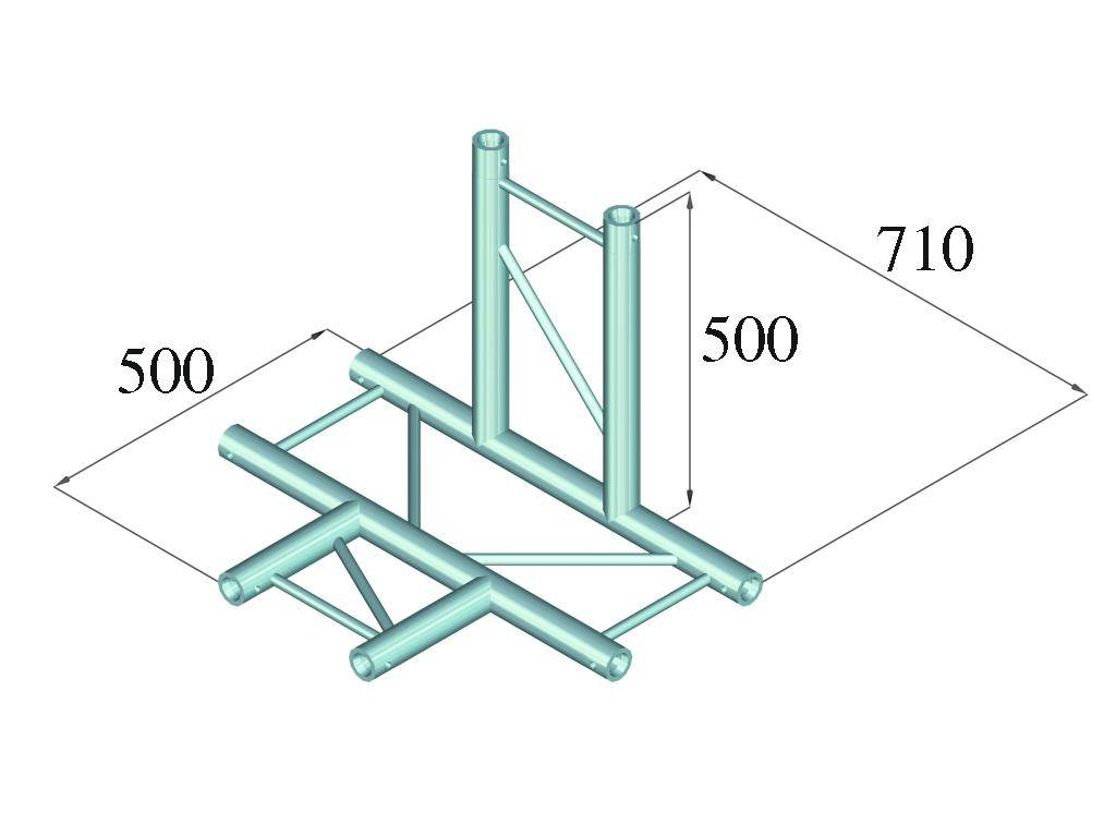 ALUTRUSS ALUTRUSS BILOCK E-GL22 T42-V 4-way corner 90°