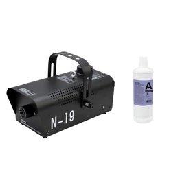 EUROLITE EUROLITE Set N-19 Smoke machine black + A2D Action smoke fluid 1