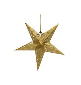 EUROPALMS EUROPALMS Star Lantern, Paper, gold, 75 cm