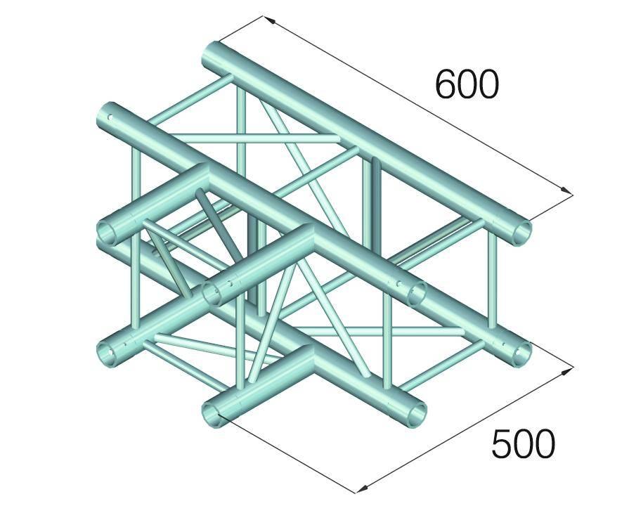 ALUTRUSS ALUTRUSS QUADLOCK GL400-T35 3-way t-piece