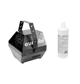 EUROLITE EUROLITE Set B-100 Bubble machine black DMX + bubble fluid 1l