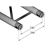 ALUTRUSS ALUTRUSS BILOCK E-GL22 290 2-way cross beam