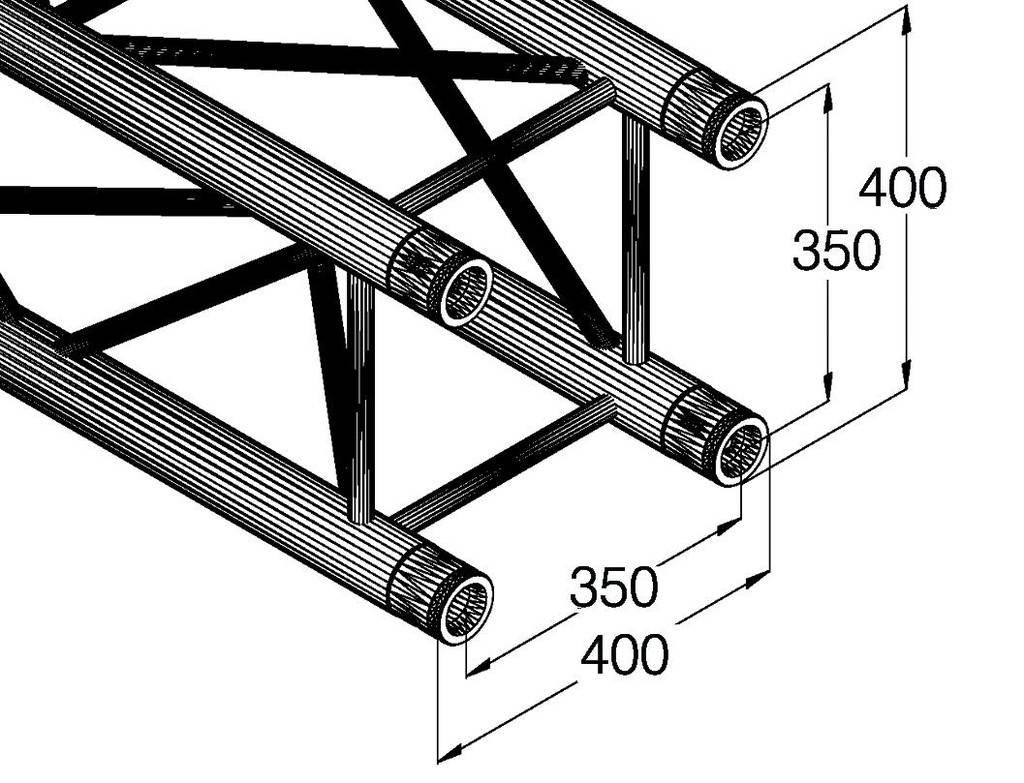 ALUTRUSS ALUTRUSS QUADLOCK GL400-5000 4-way cross beam