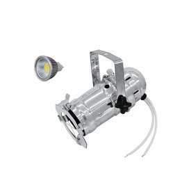 EUROLITE EUROLITE Set PAR-16 Spot sil + MR-16 12V GX-5,3 5W LED COB 6400K