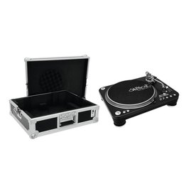 OMNITRONIC OMNITRONIC Set DD-5220L Turntable bk + Case tour Pro black -B-