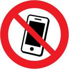 mobiele telefoons verboden sticker