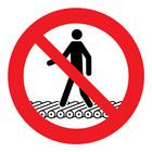 verboden op de rollenbaan te lopen sticker