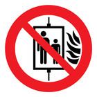 verboden lift te gebruiken bij brand