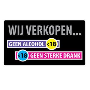 wij verkopen geen alcohol onder 18