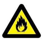 Ontvlambare stoffen sticker