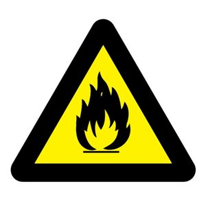 "pictogram ""ontvlambare stoffen"" sticker"