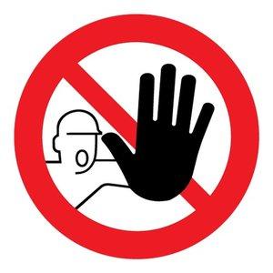 """pictogram """"Verboden toegang voor onbevoegden"""" sticker"""