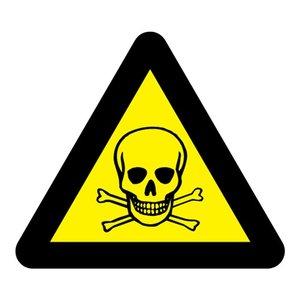"""pictogram """"giftige stoffen"""" sticker"""