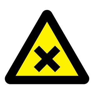 """pictogram """"schadelijke of irriterende stoffen"""" sticker"""