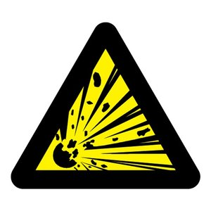 """pictogram """"explosieve stoffen"""" sticker"""