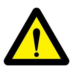 """pictogram """"gevaar (algemeen)"""" sticker"""