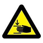 Let op uw handen sticker