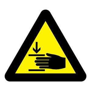 """pictogram """"Let op uw handen"""" sticker"""