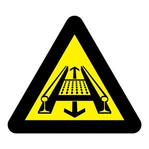 "pictogram ""Bewegende installatie"" sticker"