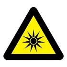 Optische straling sticker