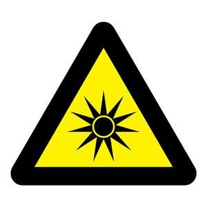 """pictogram """"Optische straling"""" sticker"""
