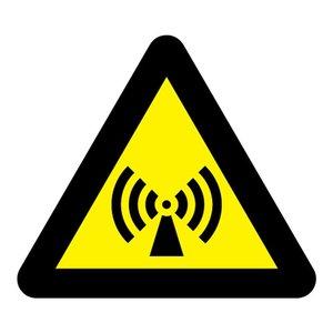 "pictogram ""Niet-ioniserende straling"" sticker"