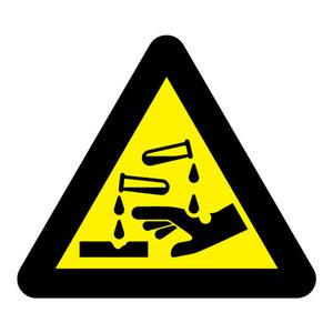 """pictogram """"bijtende (corrosieve) stoffen"""" sticker"""
