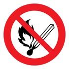 Vuur en roken verboden sticker