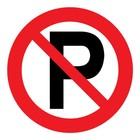 verboden te parkeren sticker