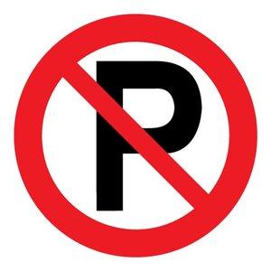 """pictogram """"verboden te parkeren"""" sticker"""